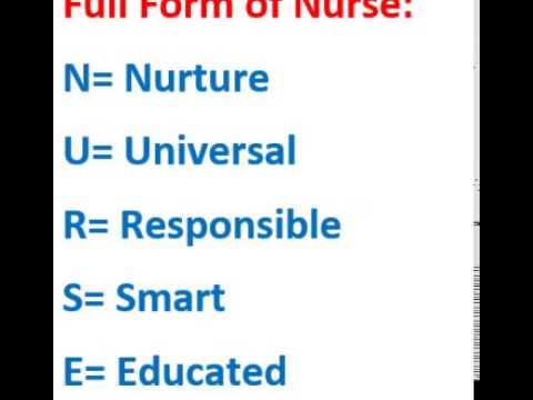 Nurse full form - YouTube