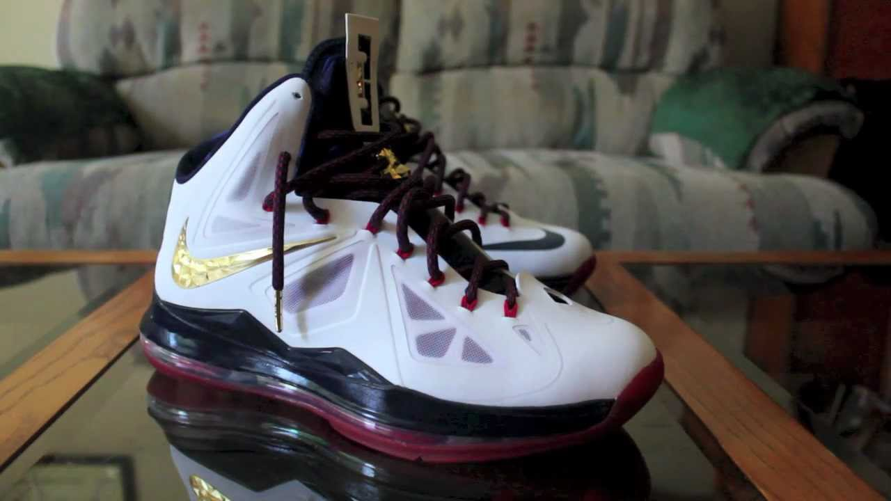 Womens Nike LeBron 10 USA Gold Medal
