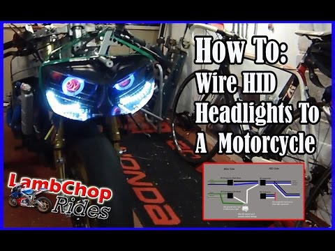 Wiring HID Headlights To A Motorcycle (both lights on, high & low beam)