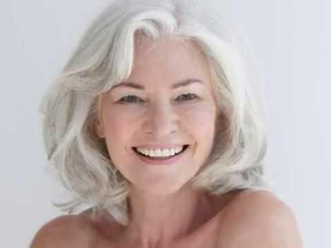 Medium length hairstyles for grey hair