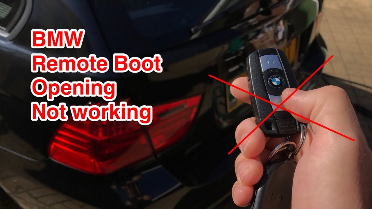 bmw remote boot opening  working automatic boot release