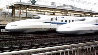 東海道新幹線の過密ダイヤが分かる追い越しシーン【小田原駅】 thumbnail