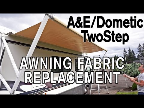 How To Replace A&E / Dometic TwoStep Awning Fabric - YouTube