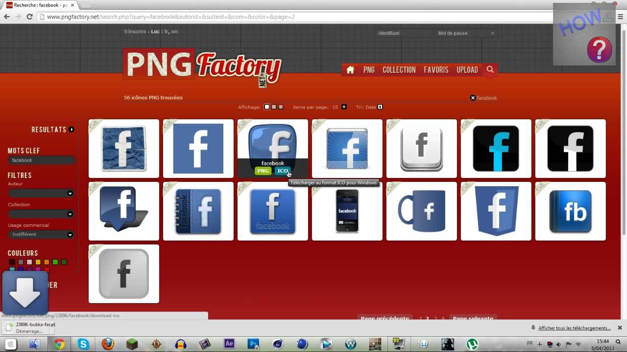 Logo facebook raccourci - Mettre un raccourci internet sur le bureau ...