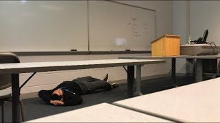 PASSING OUT DURING MY COLLEGE SPEECH CLASS PRANK *cops called*