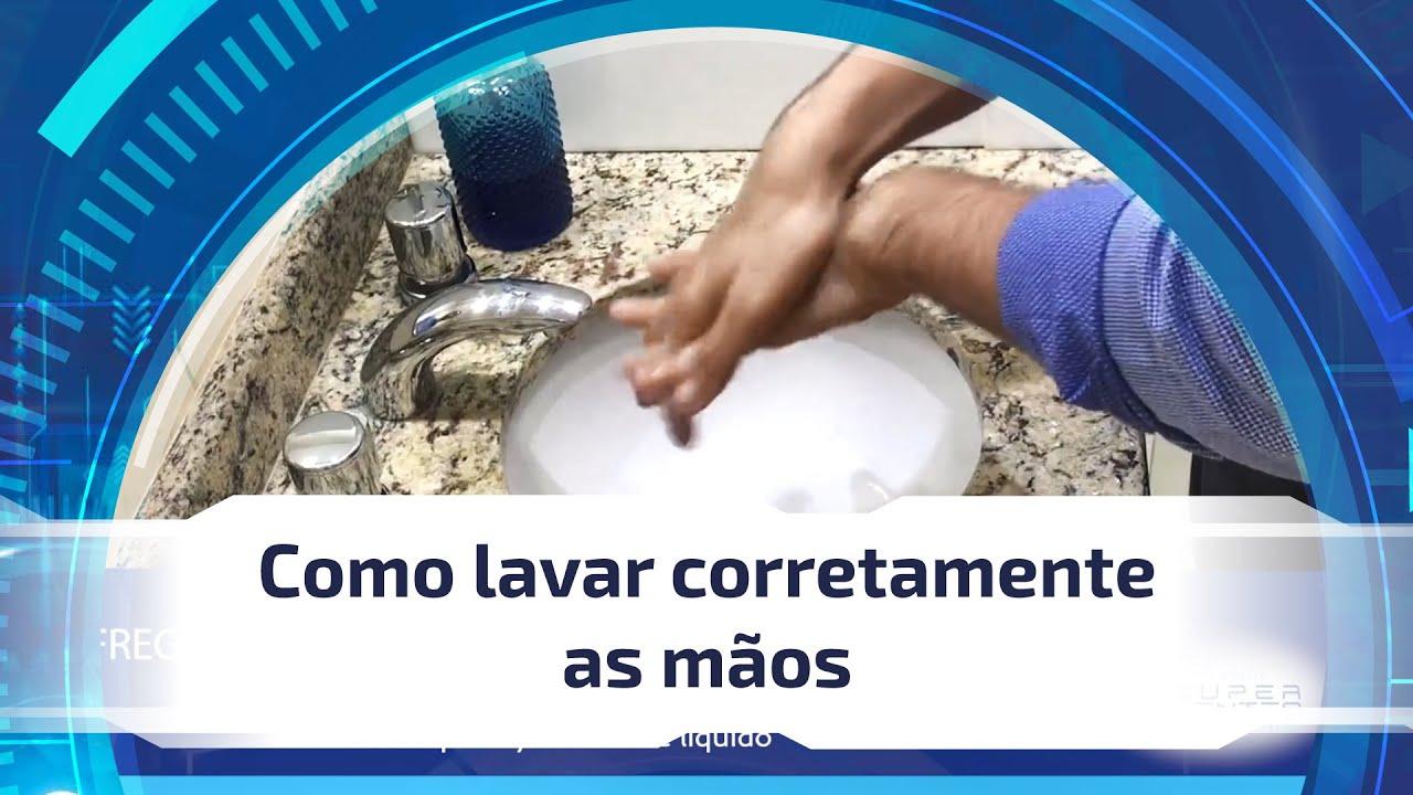 Como Lavar Corretamente as Mãos