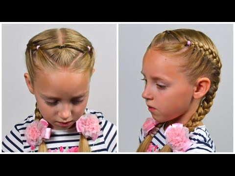 French Braids with Elastics ★ EASY Elastic HAIRSTYLE (Little girls hairstyles #82) #LGH thumbnail