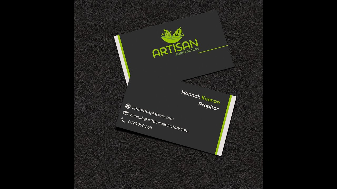 Awesome easy business card design 1 youtube awesome easy business card design 1 colourmoves