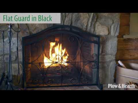 Crest Flat Guard Fireplace Screen SKU# 13912 - Plow & Hearth