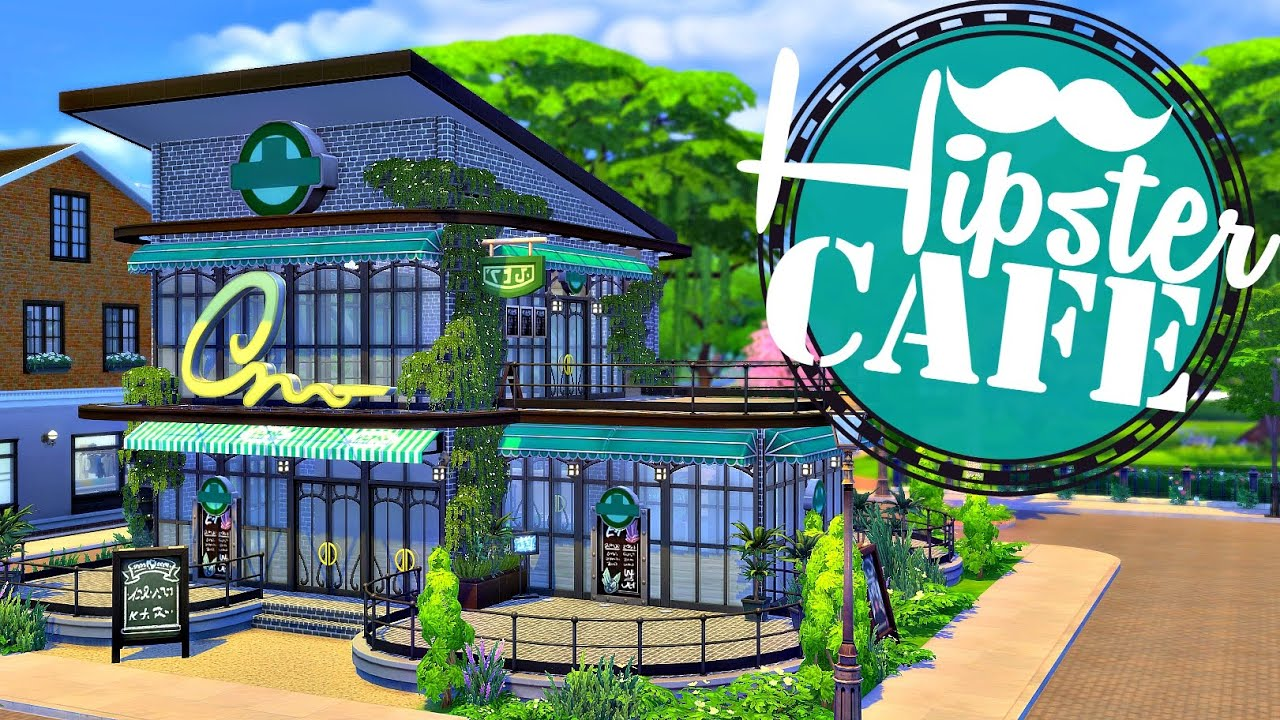 Sims 4 house build hipster cafe help me furnish it for Help me build a house