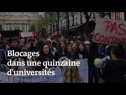 Une quinzaine de facs bloquées : la mobilisation étudiante en images