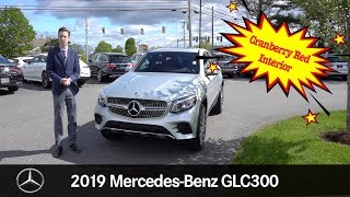 CRANBERRY RED INTERIOR 2019 Mercedes-Benz GLC300 Coupe COUPE 4MATIC® tour with Spencer