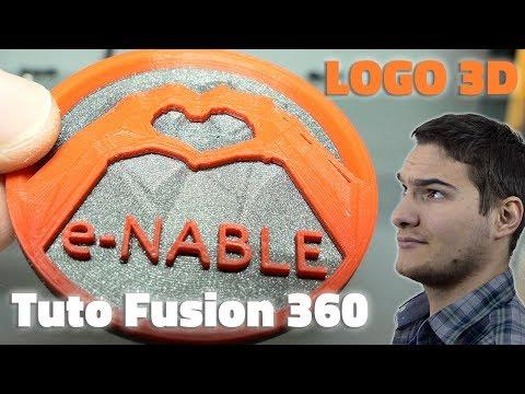 FUSION 360 - REPRODUIRE UN LOGO EN 3D AVEC 2 COULEURS