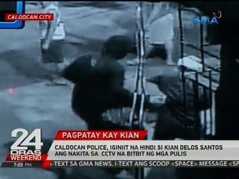 Caloocan Police, iginiit na hindi si Kian delos Santos ang nakita sa CCTV na bitbit ng mga pulis