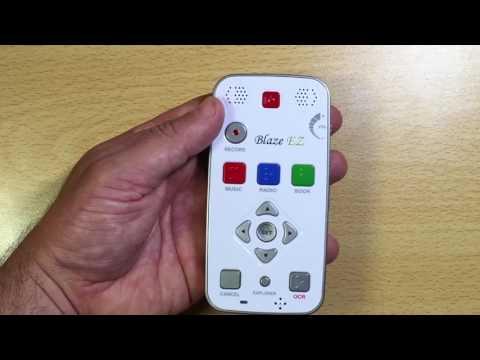 TEST BLAZE  EZ Premium   Machine à lire de poche OCR DAISY Lecteur  MP3  RADIO