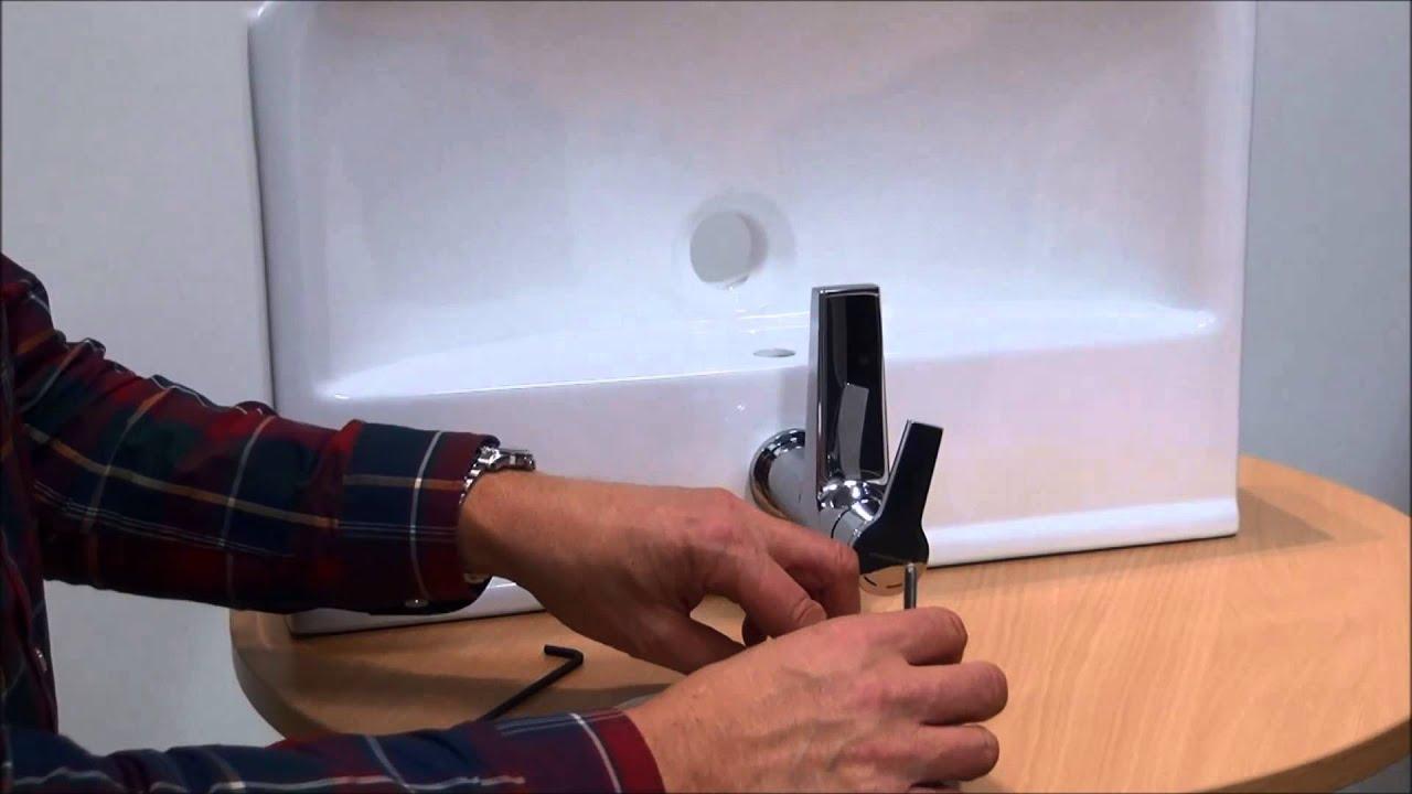 Tvättställsblandare -- montering av blandare och ventil ...