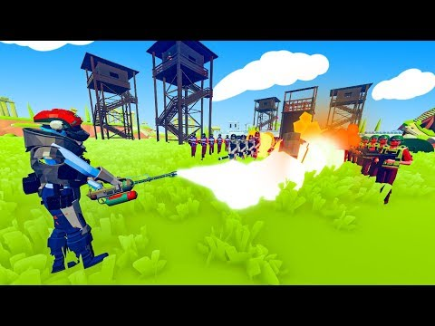 TABS - FLAMETHROWER VS Tent Spawning Military Units! - Totally Accurate Battle Simulator