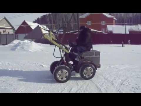видео: мини погрузчик 4х4 самоделка