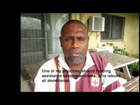 Richard John from Napangasale Secondary School, Tongoa, Vanuatu