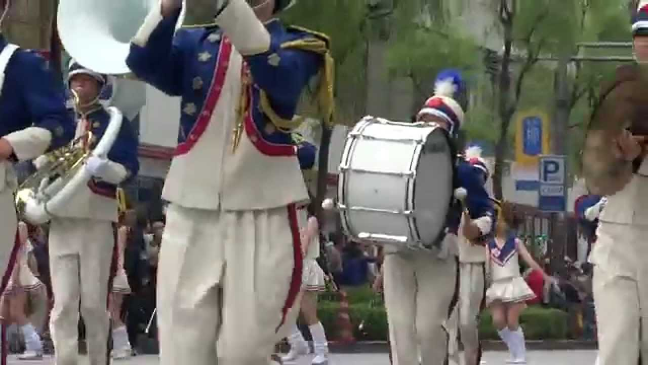 パレード バトン盗撮 銀座ゴールデンパレード 日大櫻丘バトン