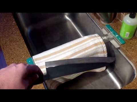 How to remove rust from carbon steel knives with Bar Keeper's Friend.