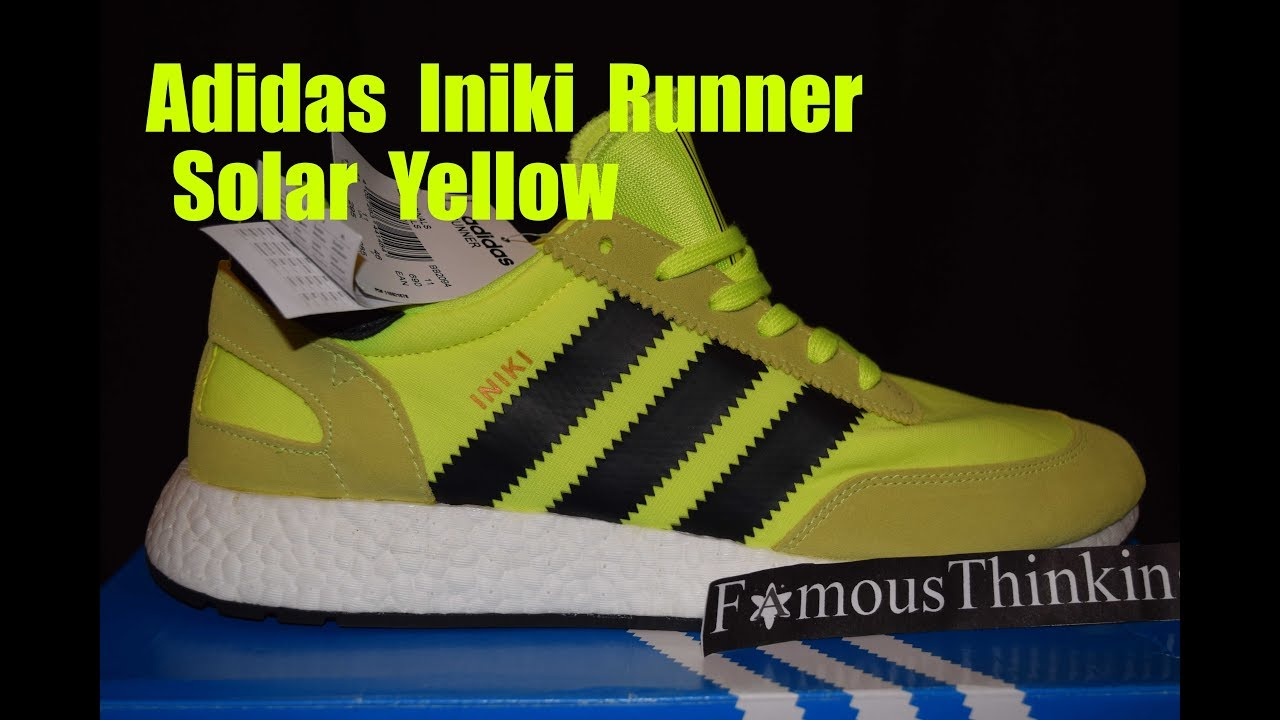 a1402baf3c237a Adidas Iniki Runner Solar Yellow Visual