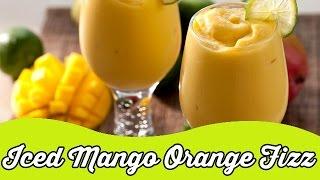 Iced Mango Orange Fizz | Tasty Cool Smoothie