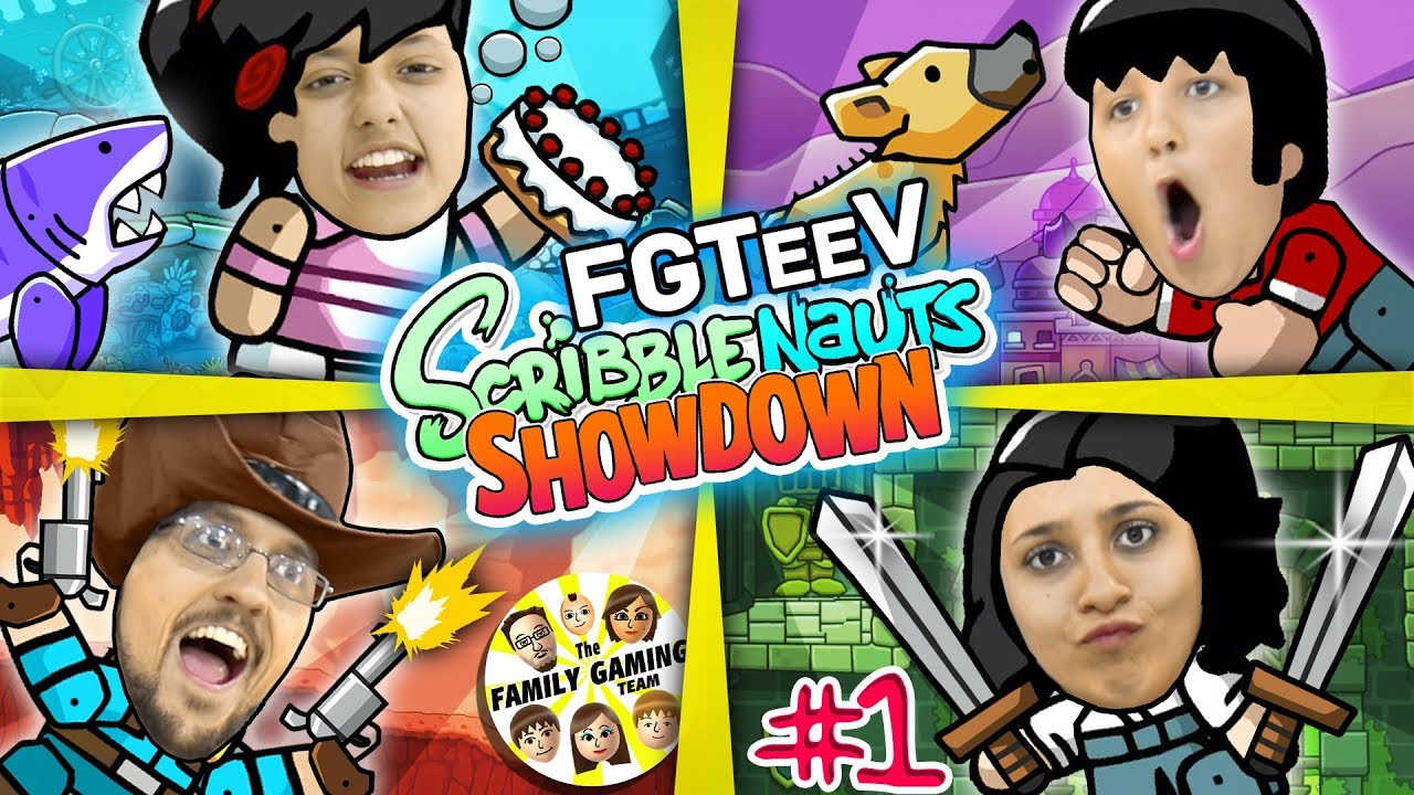 SCRIBBLENAUTS SHOWDOWN Family Tournament FGTEEV Parents & Kids Battle Challenge