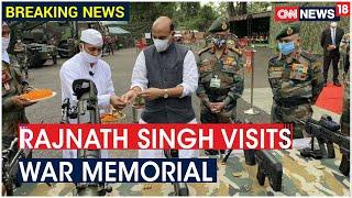 Defence Minister Rajnath Singh Pays Tribute At Sukna War Memorial in Darjeeling | CNN News18