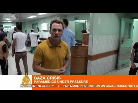 Gaza crisis: Paramedics under pressure