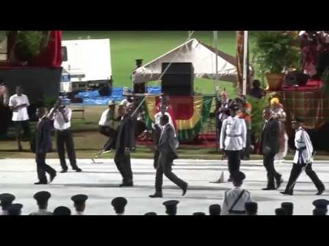 2013 Dominica Independence Celebrations: Prime Minister works crowd