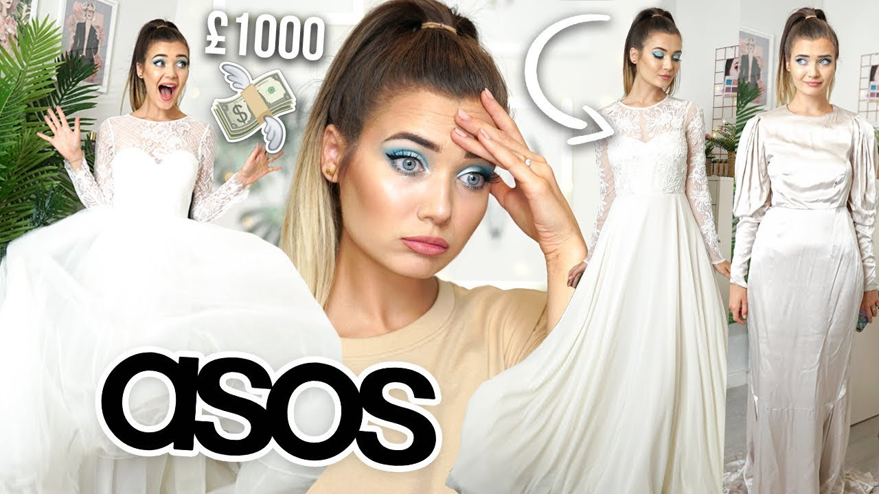 TRYING ON WEDDING DRESSES FROM ASOS! I SPENT £1000 ...