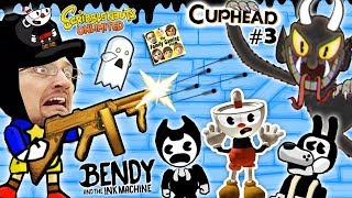 BENDY & THE INK MACHINE + SCRIBBLENAUTS UNLIMITED + CUPHEAD! FGTEEV Cheats & Beat Entire Game FAST!! thumbnail