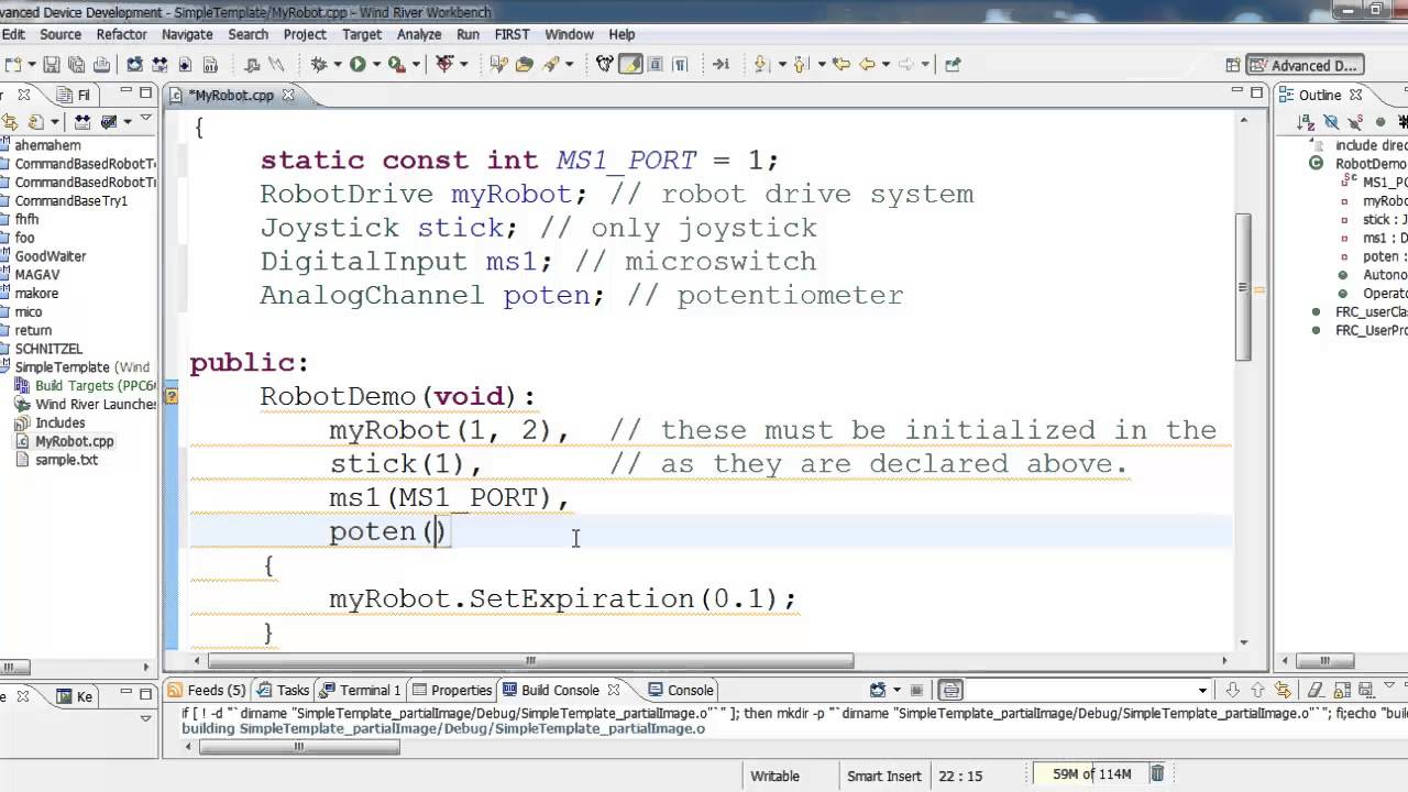 C++ Programming for FRC - Sensors and Motors