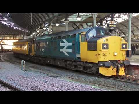 Class 37 No  37025 at Newcastle - Slatefort Depot to Derby RTC Test Train - 4th February 2017