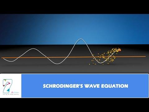 SCHRODINGER'S WAVE EQUATION