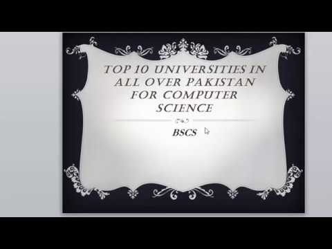Top 10 universities in all over pakistan for computer science students  2017