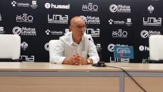 Rueda de prensa de Frank Castelló tras el CD Castellón 2-0 Buñol