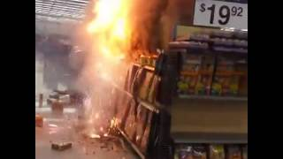 When You light the Fireworks Stand In Walmart