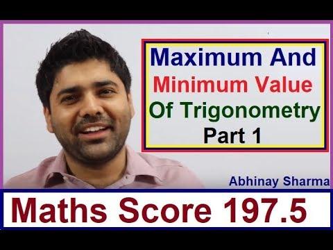 Maximum And Minimum Value Of Trigonometry Part 1 By Abhinay Sharma | Abhinay Maths 😲