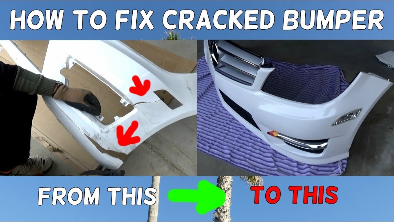 How To Fix Cracked Bumper Demonstrated On Mercedes Youtube