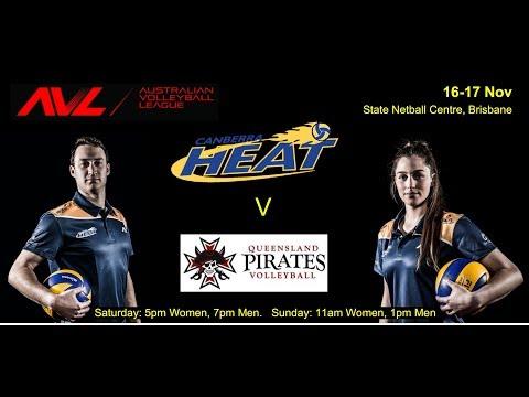 2019 Australian Volleyball League - Round 5 Sunday - Queensland Pirates v Canberra Heat