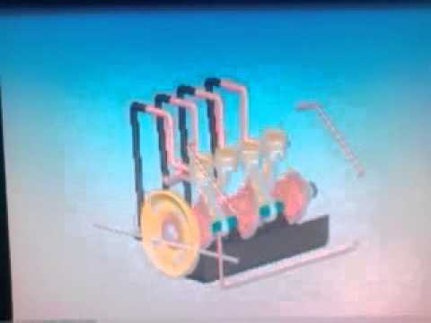 Two stroke multi cylinder engine and automotive body