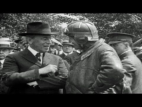 HD Stock Footage President Woodrow Wilson, U.S. Air Mail, American Federation of Labor