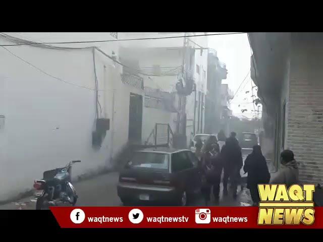 راولپنڈی سروس روڈ اقبال ٹاون راولپنڈی میں نجی سکول میں سلنڈر دھماکہ۔
