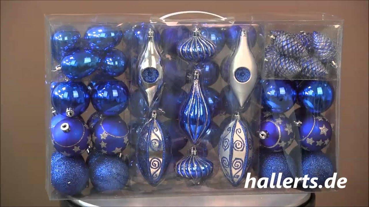 Hallerts weihnachtsbaum dekoration blau silber youtube for Dekoration weihnachtsbaum