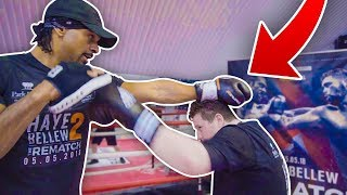 BOXING TRAINING WITH DAVID HAYE FOR MY FIGHT