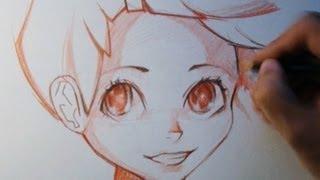 Как рисовать аниме. How To Draw Anime(Без объяснений. Просто хотелось рисовать, решил заодно записать. Для тех кто не подписан: больше видео и..., 2013-08-21T16:38:36.000Z)