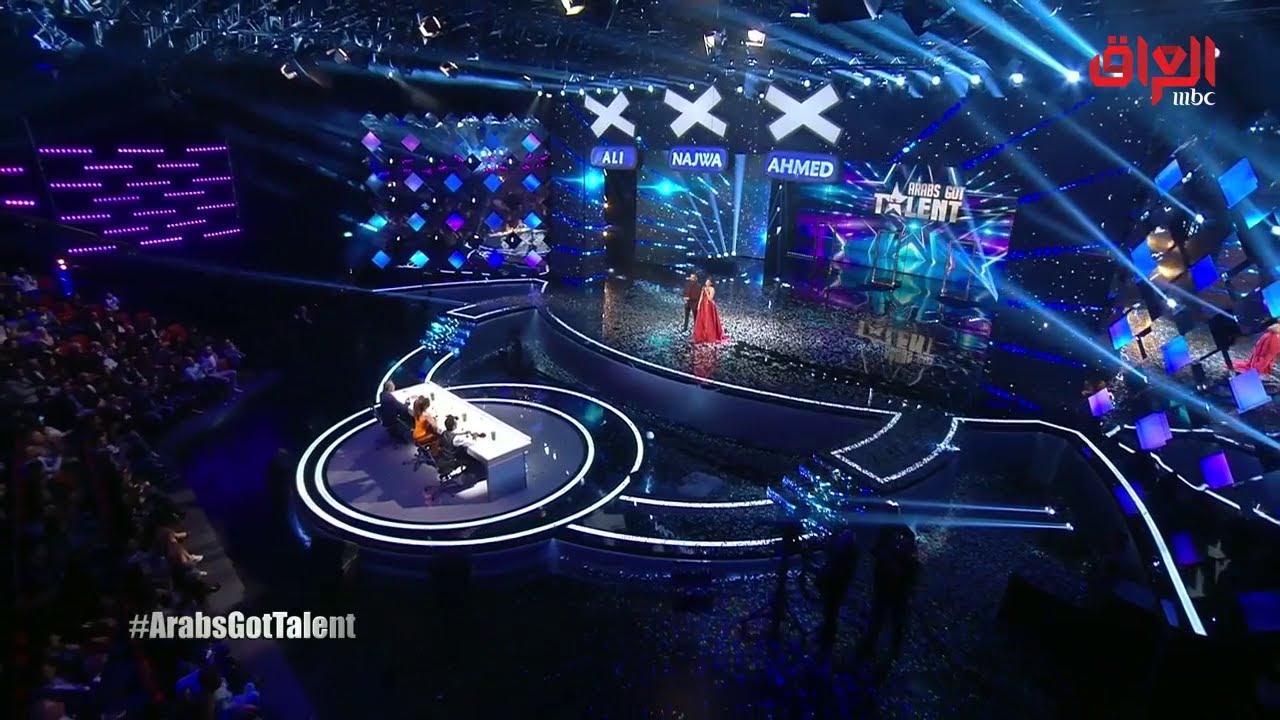 علي جابر في كلمة تعزية للشعب العراقي وأهل ضحايا عبارة الموصل خلال حلقة Arabs Got Talent