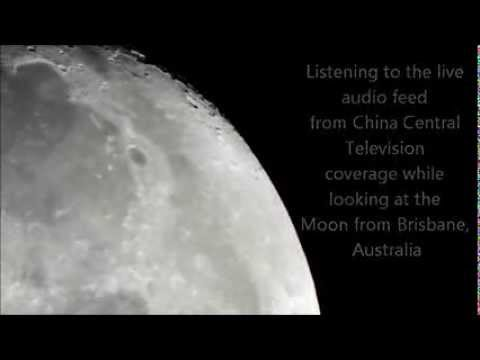Chang'e 3 landing on the Moon. A view from Brisbane